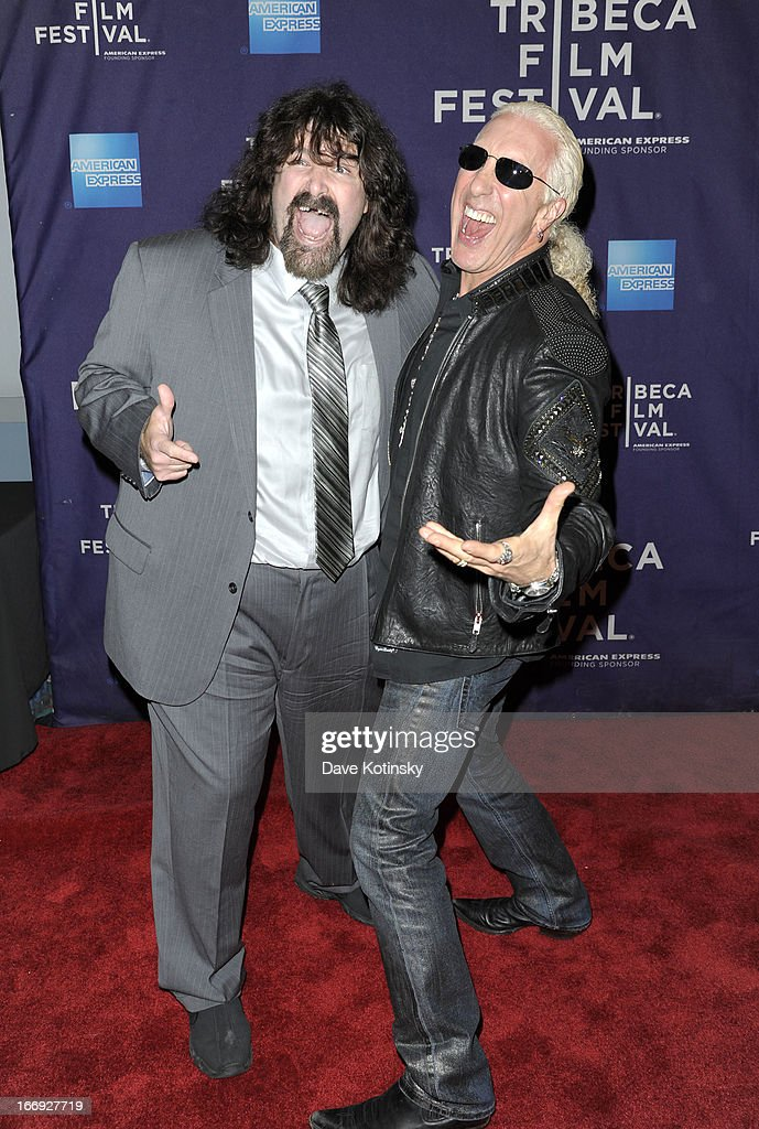 Wrestler Mick Foley (L) and musician <a gi-track='captionPersonalityLinkClicked' href=/galleries/search?phrase=Dee+Snider&family=editorial&specificpeople=239139 ng-click='$event.stopPropagation()'>Dee Snider</a> attend the 'Fool's Day' Shorts Program during the 2013 Tribeca Film Festival on April 18, 2013 in New York City.