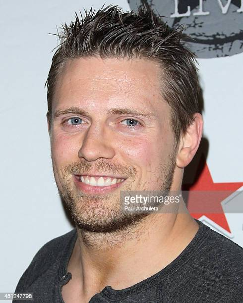 Wrestler Mike 'The Miz' Mizanin attends the launch of Lucky Strike Live the new live music venue at Lucky Strike bowling alley at Hollywood and...