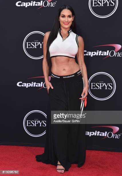 Wrestler Nikki Bella arrives at the 2017 ESPYS at Microsoft Theater on July 12 2017 in Los Angeles California