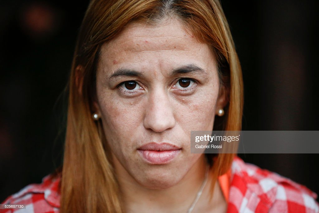 Wrestler Patricia Bermudez of Argentina poses during an exclusive exclusive portrait session at CeNARD on April 15. 2016 in Buenos Aires, Argentina.