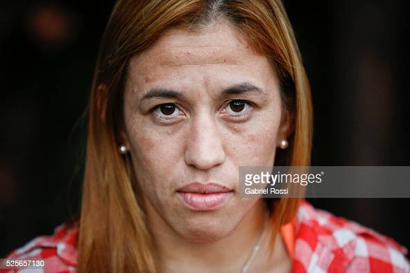 Wrestler Patricia Bermudez of Argentina poses during an exclusive exclusive portrait session at CeNARD on April 15 2016 in Buenos Aires Argentina