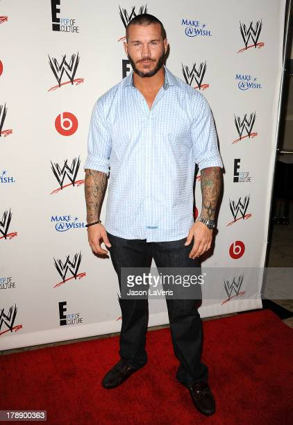 Wrestler Randy Orton attends the WWE SummerSlam VIP party at Beverly Hills Hotel on August 15 2013 in Beverly Hills California