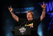 Wrestler 'Rowdy' Roddy Piper attends the WrestleMania 25th anniversary press conference at the Hard Rock Caf� on March 31 2009 in New York City