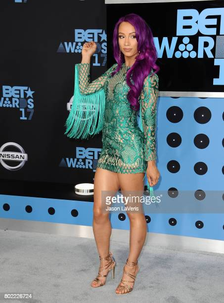 Wrestler Sasha Banks attends the 2017 BET Awards at Microsoft Theater on June 25 2017 in Los Angeles California