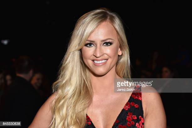 Wrestler Summer Rae at the Vivienne Tam SS 2018 Runway Show at Gallery 1 Skylight Clarkson Sq on September 10 2017 in New York City