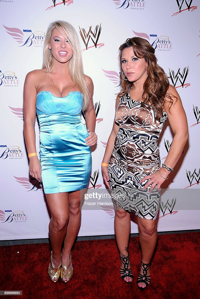 Wrestler Taryn Terrell Mickie James arrives at the WWE's SummerSlam Kickoff Party at H-Wood Club on August 21, 2009 in Hollywood, California.