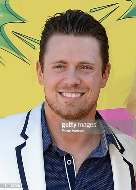 Wrestler The Miz arrives at Nickelodeon's 26th Annual Kids' Choice Awards at USC Galen Center on March 23 2013 in Los Angeles California