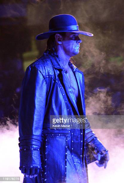 Wrestler The Undertaker during WrestleMania XXVII at Georgia Dome on April 3 2011 in Atlanta Georgia