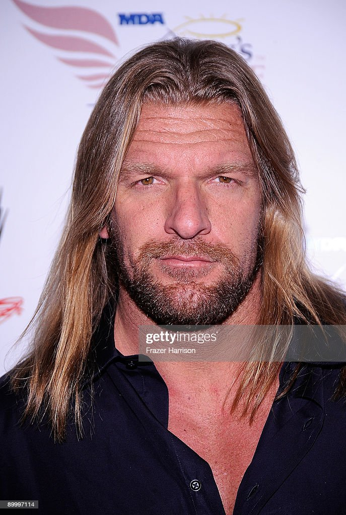 Wrestler Triple H, Paul Michael Levesque arrives at the WWE's SummerSlam Kickoff Party at H-Wood Club on August 21, 2009 in Hollywood, California.