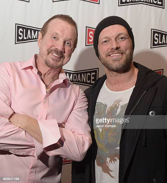 Wrestlers Diamond Dallas Page and Triple H attend the Slamdance Cinema Club screening of 'Resurrection Of Jake The Snake' at ArcLight Cinemas on...