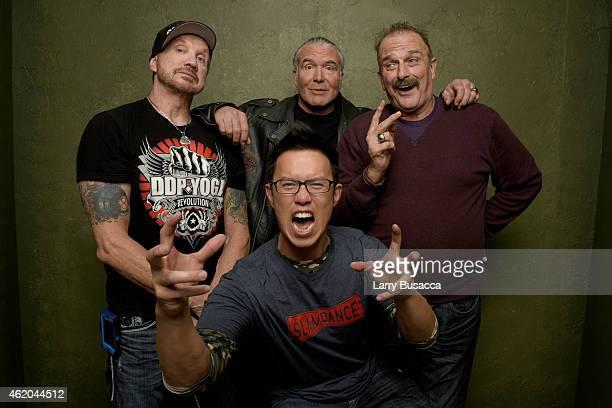 Wrestlers Diamond Dallas Page Scott Hall filmmaker Steve Yu and wrestler Jake 'The Snake' Roberts from 'The Resurrection of Jake The Snake Roberts'...