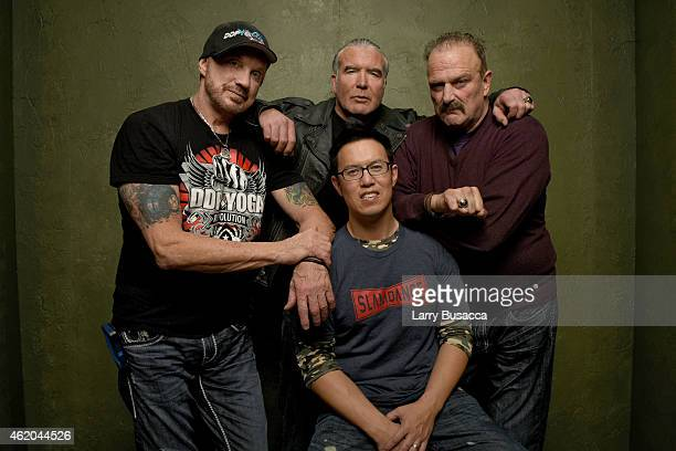 Wrestlers Diamond Dallas Page Scott Hall filmmaker Steve Yu and wrestler Jake 'The Snake' Roberts from 'The Resurrection of Jake The Snake Roberts'...