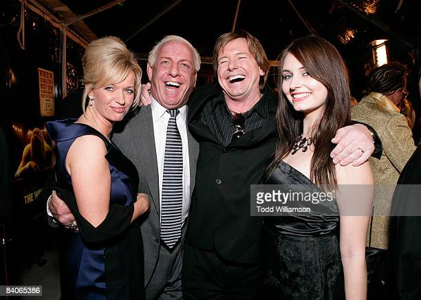 Wrestlers Ric Flair and ' Rowdy' Roddy Piper on the red carpet of the Los Angeles premiere of 'The Wrestler' at the Academy Of Motion Arts Sciences...
