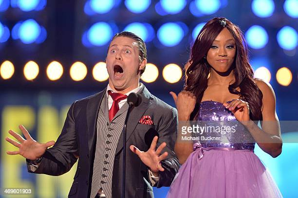 WWE wrestlers The Miz and Alicia Fox speak onstage during Cartoon Network's fourth annual Hall of Game Awards at Barker Hangar on February 15 2014 in...