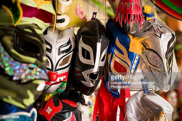 Wrestling mask souvenirs, San Miguel de Allende, Guanajuato, Mexico