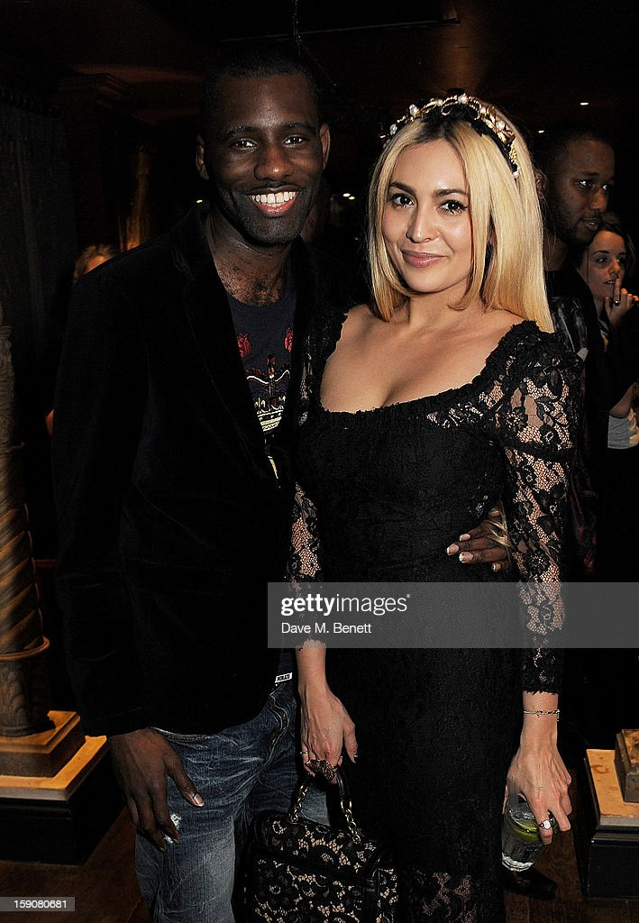 Wretch 32 (L) and Zara Martin attend the Esquire and Tommy Hilfiger party celebrating London Collections: MEN AW13, hosted by Esquire editor Alex Bilmes and Tommy Hilfiger, at the Zetter Townhouse on January 7, 2013 in London, England.
