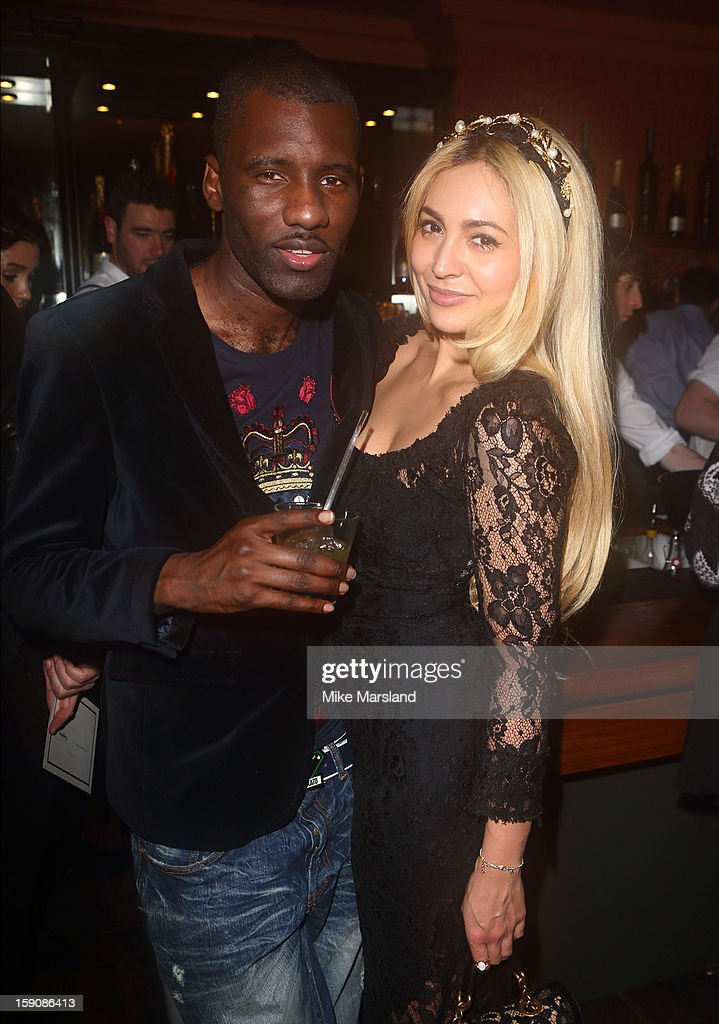 Wretch 32 and Zara Martin attend the Tommy Hilfiger & Esquire event at the London Collections: MEN AW13 at on January 7, 2013 in London, England.