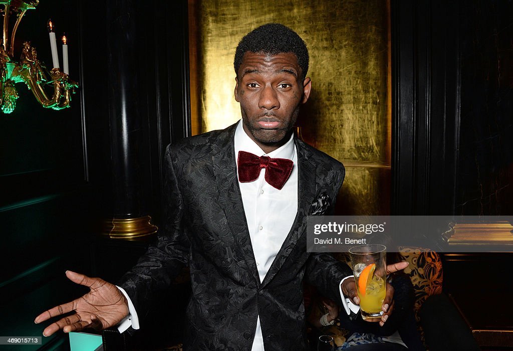 <a gi-track='captionPersonalityLinkClicked' href=/galleries/search?phrase=Wretch+32&family=editorial&specificpeople=5855963 ng-click='$event.stopPropagation()'>Wretch 32</a> attends a party hosted by EE and Esquire at The Savoy Hotel ahead of the 2014 EE British Academy Film Awards on February 12, 2014 in London, England.