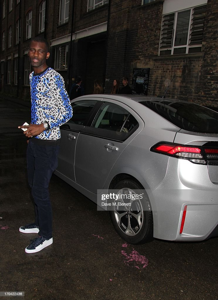 Wretch 32 attends Club DKNY in celebration of #DKNYARTWORKS hosted by Cara Delevingne with special performances by Rita Ora and Iggy Azalea at The Fire Station on June 12, 2013 in London, England.