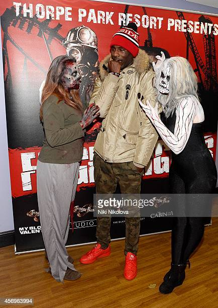 Wretch 32 attends Friday Night VIP Event held in at Thorpe Park on October 9 2014 in Chertsey England