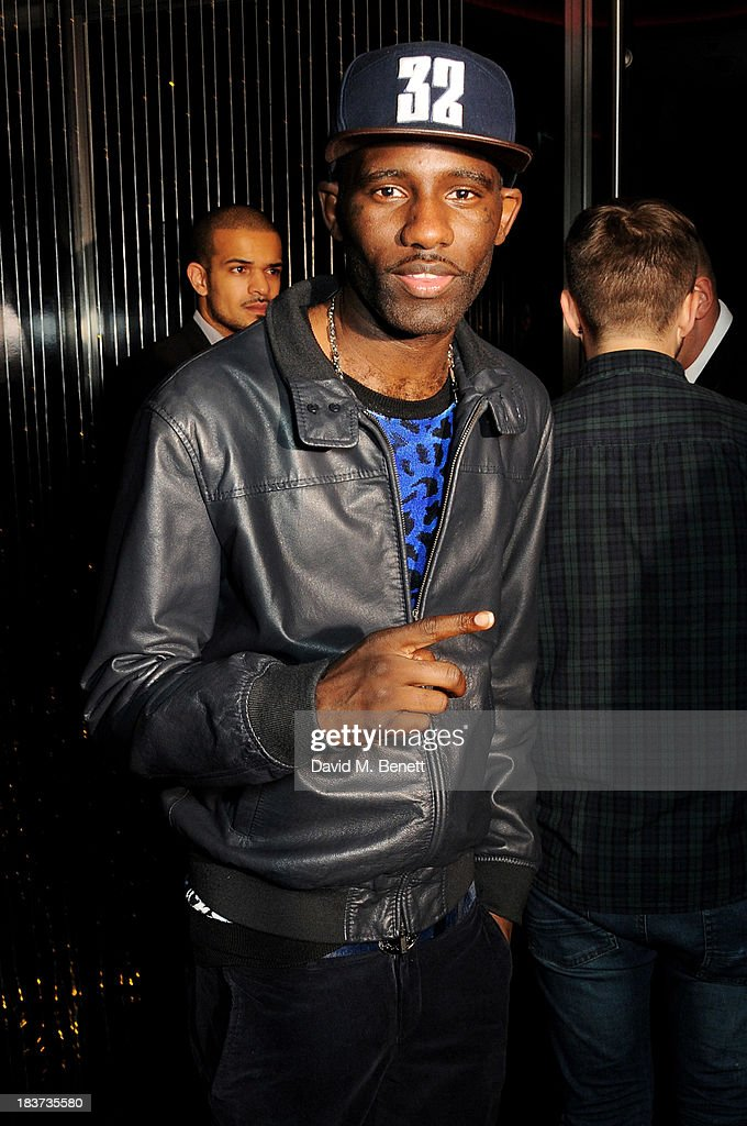 <a gi-track='captionPersonalityLinkClicked' href=/galleries/search?phrase=Wretch+32&family=editorial&specificpeople=5855963 ng-click='$event.stopPropagation()'>Wretch 32</a> attends the launch of The Vinyl Collection curated by Annie Mac and the AMP 2013 album at W London - Leicester Square on October 9, 2013 in London, England.
