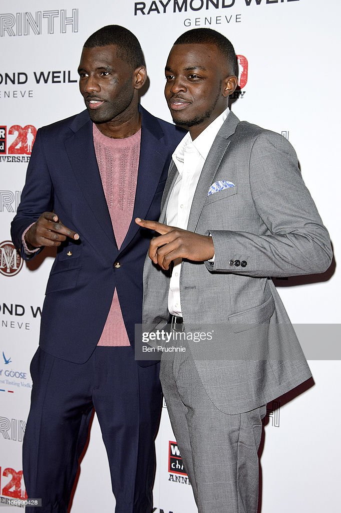 Wretch 32 attends the Raymond Weil pre-Brit Awards dinner and 20th anniversary celebration of War Child at The Mosaica on January 24, 2013 in London, England.