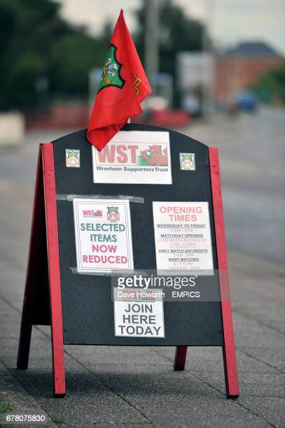 Wrexham Supporters Club sandwich board