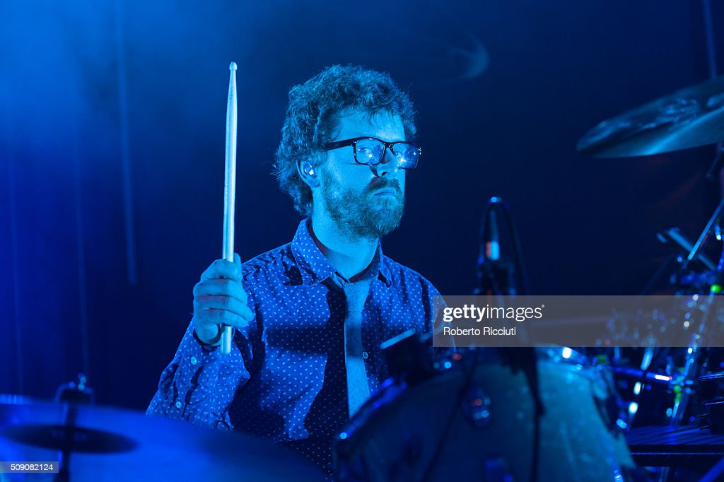Wrigglesworth of Public Service Broadcasting performs on stage at Queen's Hall on February 8, 2016 in Edinburgh, Scotland.