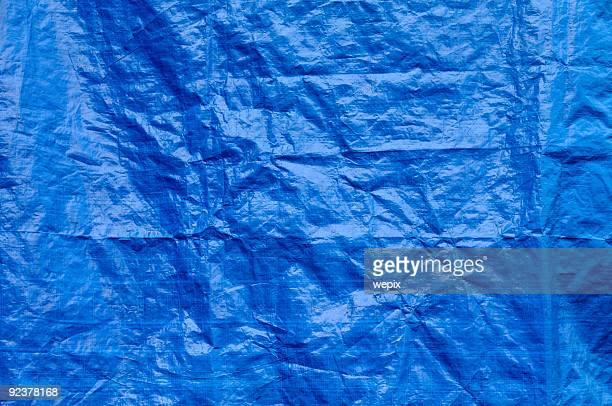 Ridé Bleu texture de fond tarp Plein cadre