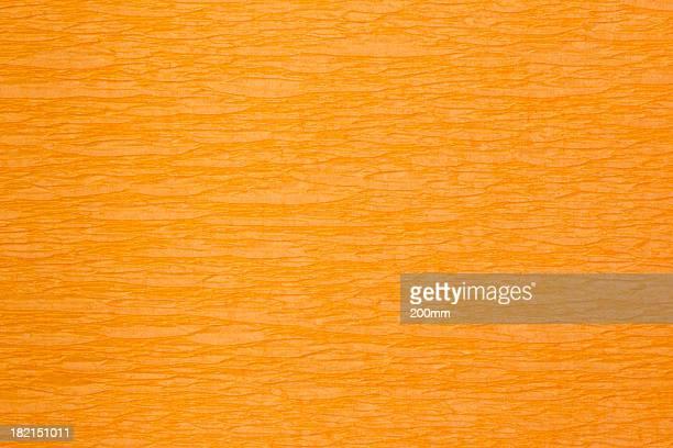 Wrinkled crepe orange paper