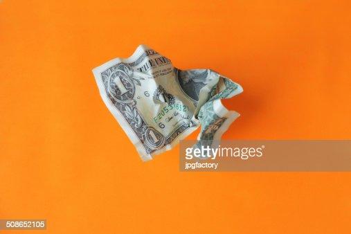 wrinkled money : Stock Photo
