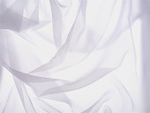 Wrinkled white sheer cloth background