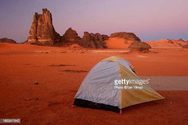 Wrinkly tent in the Sahara