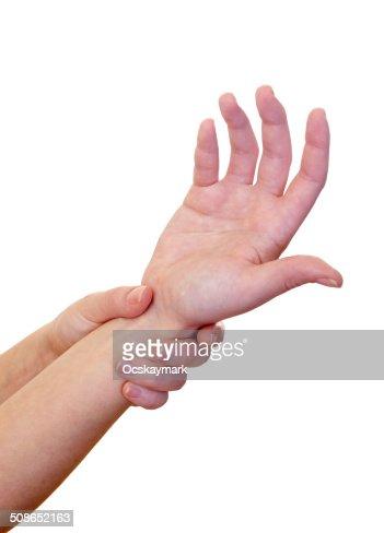Wrist pain : Stock Photo