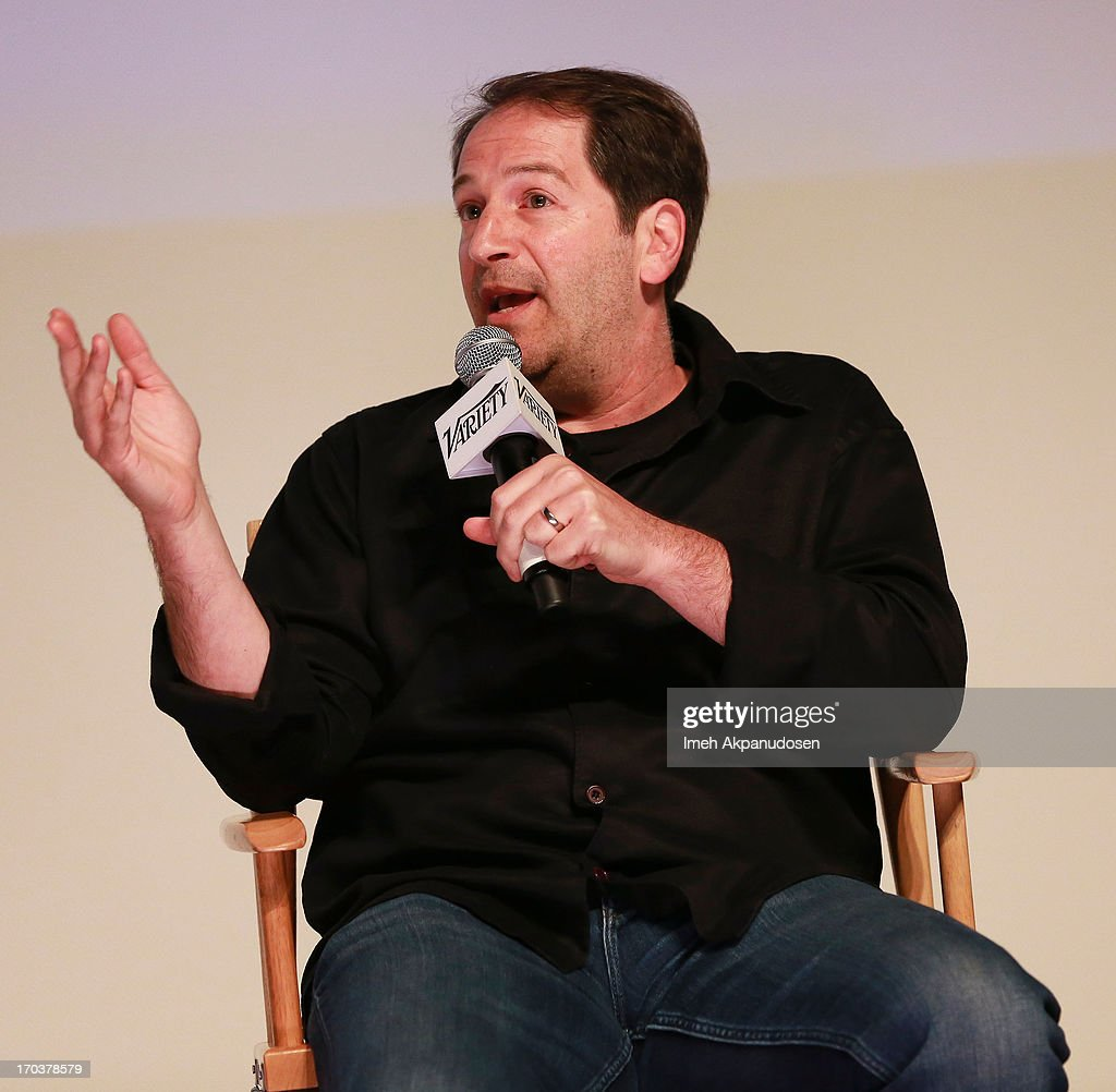 Writer Aaron Korsh speaks onstage during Variety's A Night In The Writers' Room at Writers Guild Theater on June 11, 2013 in Beverly Hills, California.