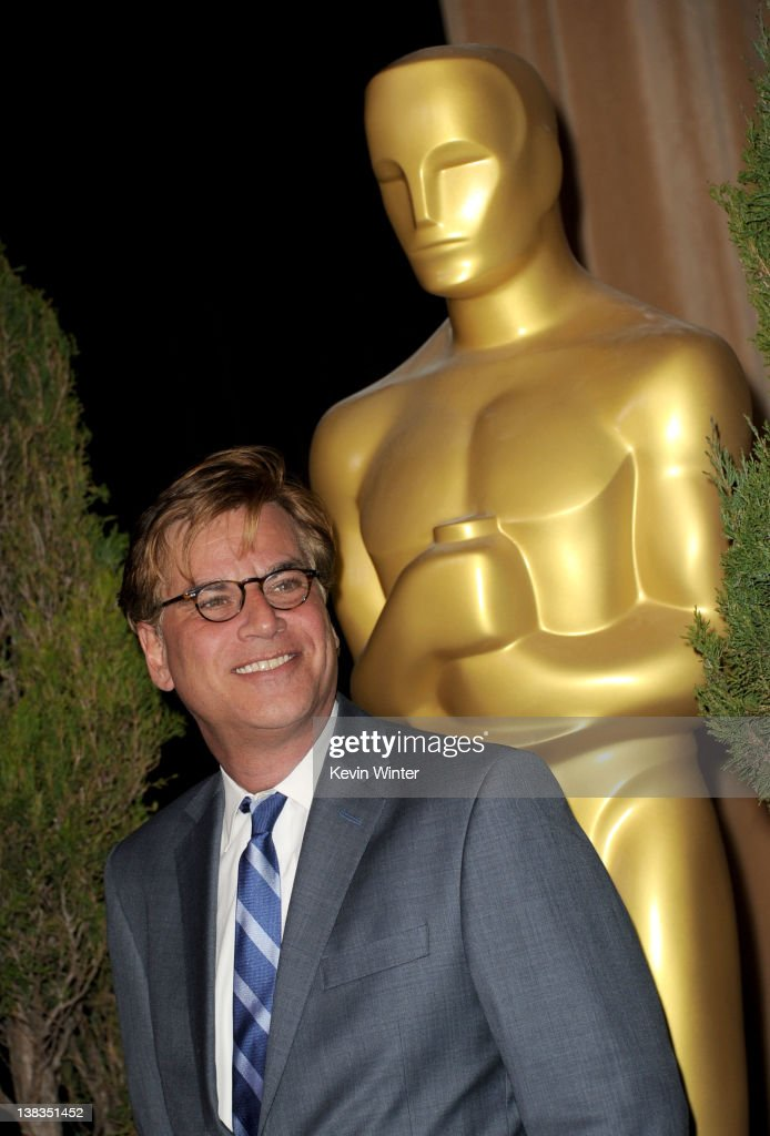 Writer Aaron Sorkin arrives at the 84th Academy Awards Nominations Luncheon at The Beverly Hilton hotel on February 6 2012 in Beverly Hills California
