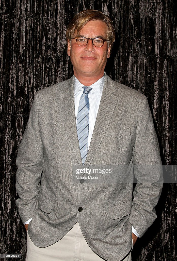 Writer Aaron Sorkin arrives at the WGA's 'Beyond Words 2011' OscarNominated Screenwriter Panel on February 3 2011 in Beverly Hills California