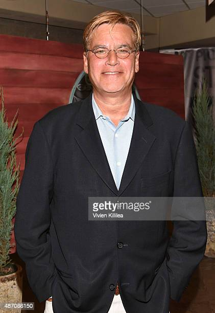 Writer Aaron Sorkin attends the 2015 Telluride Film Festival on September 5 2015 in Telluride Colorado