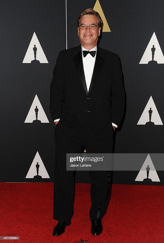 Writer Aaron Sorkin attends the 7th annual Governors Awards at The Ray Dolby Ballroom at Hollywood Highland Center on November 14 2015 in Hollywood...
