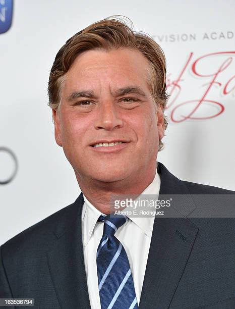 Writer Aaron Sorkin attends the Academy of Television Arts Sciences' 22nd Annual Hall of Fame Induction Gala at The Beverly Hilton Hotel on March 11...