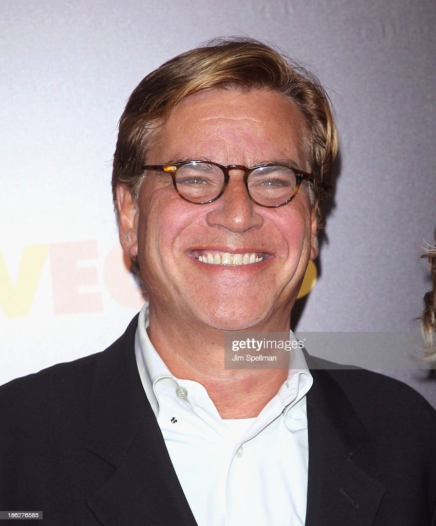 Writer Aaron Sorkin attends the 'Last Vegas' premiere at the Ziegfeld Theater on October 29 2013 in New York City