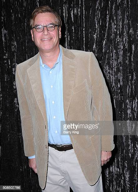 Writer Aaron Sorkin attends the Writers Guild's Beyond Words 2016 at the Writers Guild Theater on February 4 2016 in Beverly Hills California