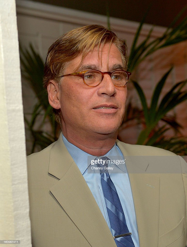 "Writer Aaron Sorkin attends Vanity Fair and Juicy Couture's Celebration of the 2013 ""Vanities"" Calendar hosted by Vanity Fair West Coast Editor Krista Smith and actress Olivia Munn in support of the Regional Food Bank of Oklahoma, a member of Feeding America, at the Chateau Marmont on February 18, 2013 in Los Angeles, California."