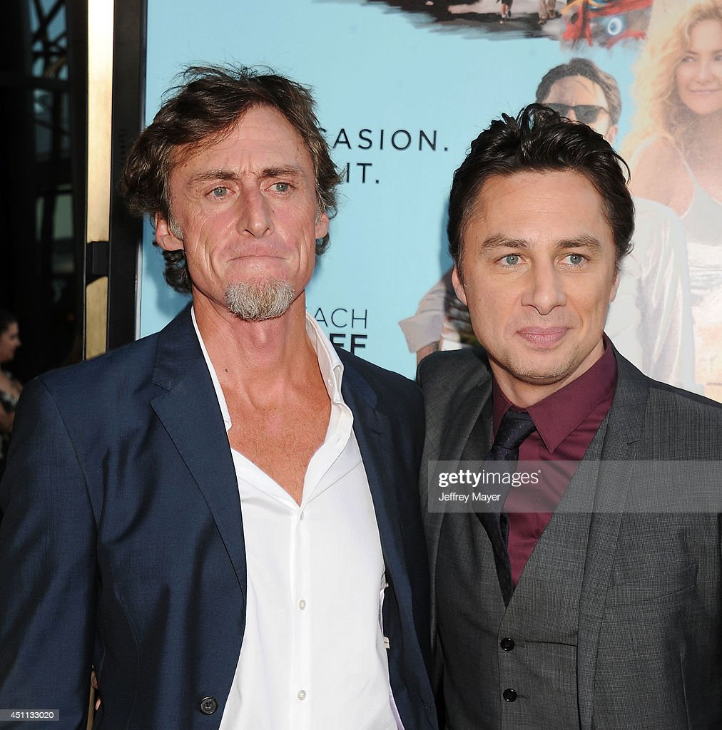 Writer Adam Braff (L) and writer/director/actor <a gi-track='captionPersonalityLinkClicked' href=/galleries/search?phrase=Zach+Braff&family=editorial&specificpeople=203253 ng-click='$event.stopPropagation()'>Zach Braff</a> attend the 'Wish I Was Here' Los Angeles premiere on June 23, 2014 at the DGA Theater in Los Angeles, California.