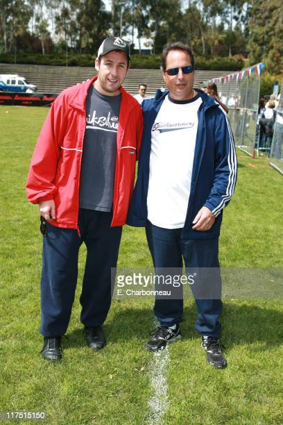 Writer Adam Sandler and Jon Lovitz during Revolution Studios and Columbia Pictures Premiere of 'The Benchwarmers' at Sunset Canyon Recreation...