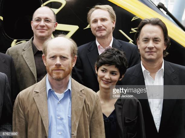 Writer Akiva Goldsman author Dan Brown actors Tom Hanks Audrey Tautou and director Ron Howard name a new Eurostar Train The Da Vinci Code at...