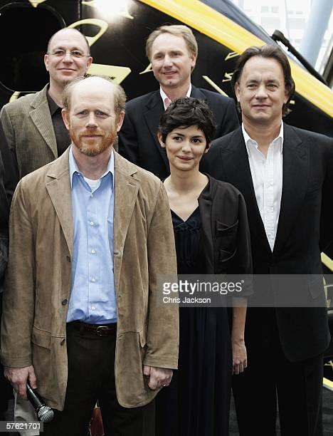 Writer Akiva Goldsman author Dan Brown actors Tom Hanks Audrey Tautou and director Ron Howard name a new Eurostar Train The Da Vinci Code at...