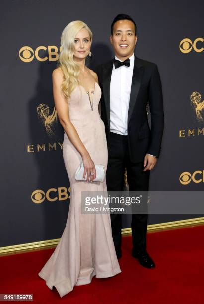 Writer Alan Yang and guest attend the 69th Annual Primetime Emmy Awards Arrivals at Microsoft Theater on September 17 2017 in Los Angeles California