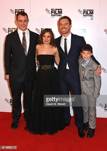 Writer Alastair Siddons cast members Lyndsey Marshal Michael Fassbender and Georgie Smith attend the 'Trespass Against Us' screening during the 60th...