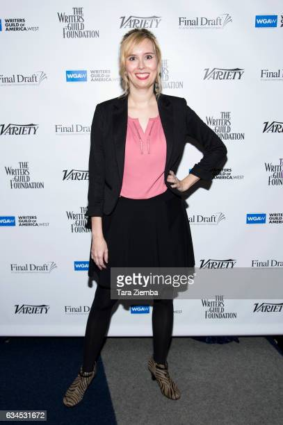 Writer Allison Schroeder attends the 2017 Writers Guild annual Beyond Words panel event at Writers Guild Theater on February 9 2017 in Beverly Hills...